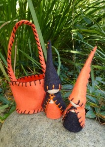 Autumn Garden Gnome Pair