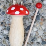 Mushroom Knitting Spool