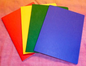 Blank Book - Set of 4 - Red, Yellow, Green, Blue