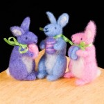 Three Spring Bunnies Needle Felting Kit